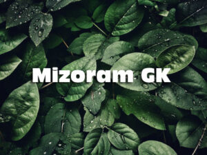 Mizoram GK MCQ Questions and Answers